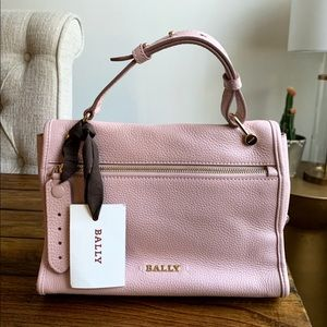 Bally Bianne Dusty Grainy Rose Leather